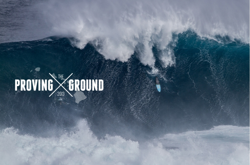 Shane Dorian's board marking time at Peahi.