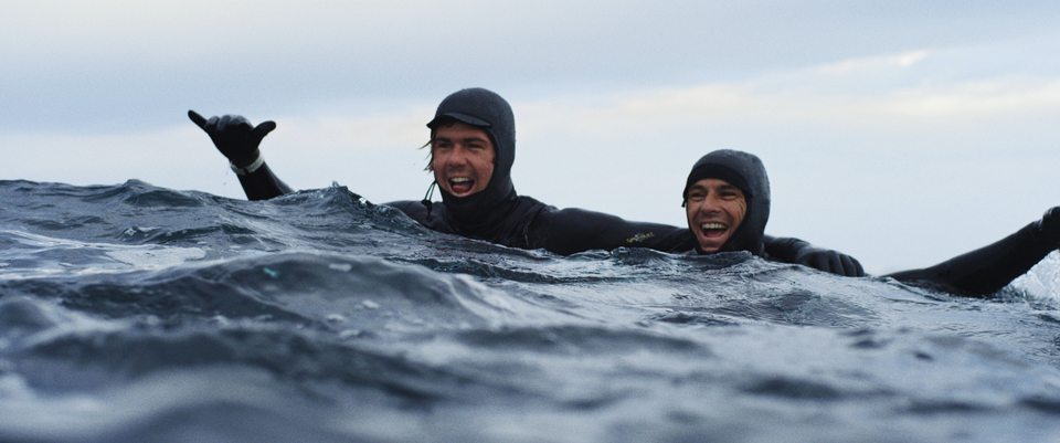 Albee and Shane, slab hunting in Northern Europe.