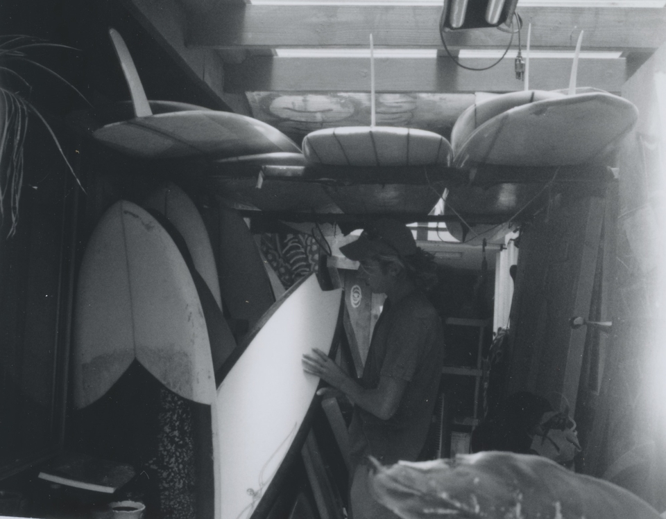 No need to pack a quiver when you have boards stashed all over the world.