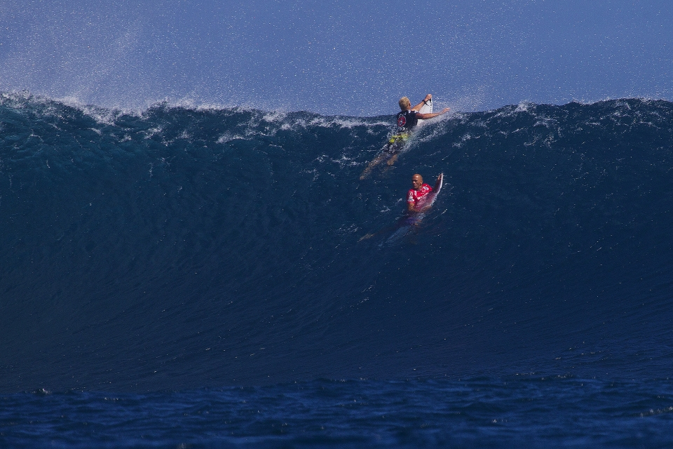 Mick Fanning and Kelly Slater, keeping it together, keeping it real.