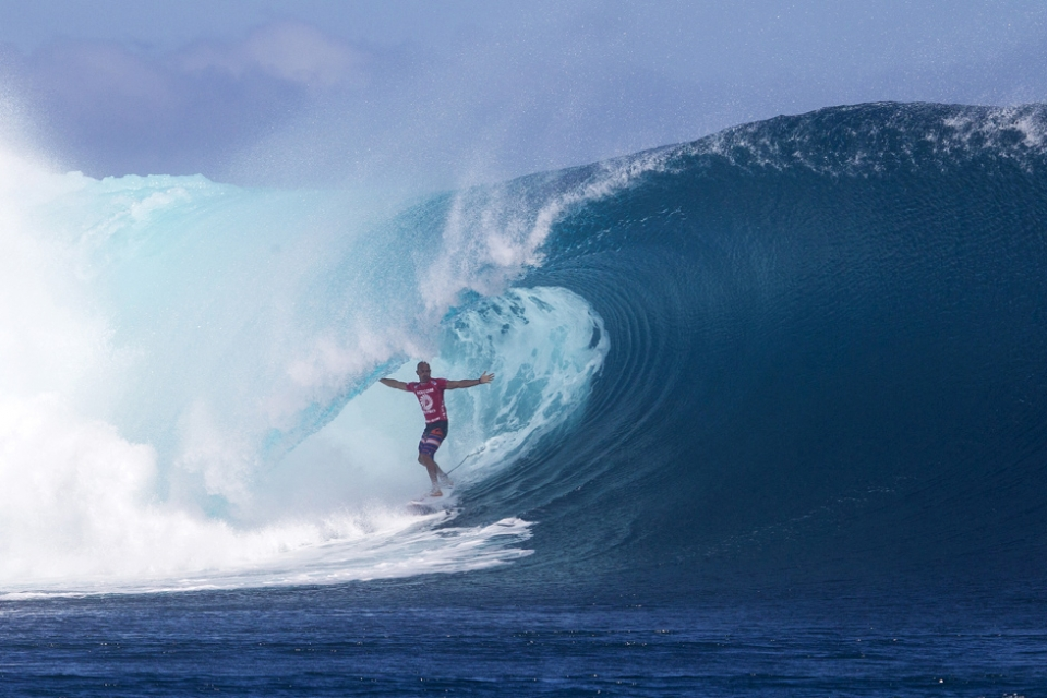 Kelly Slater's Christ pose was more of a 'holy cripes' moment.