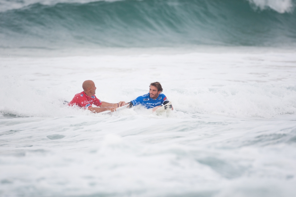 Despite having his title dreams savaged in Round 2, Slater, as ever, remained gracious in defeat.