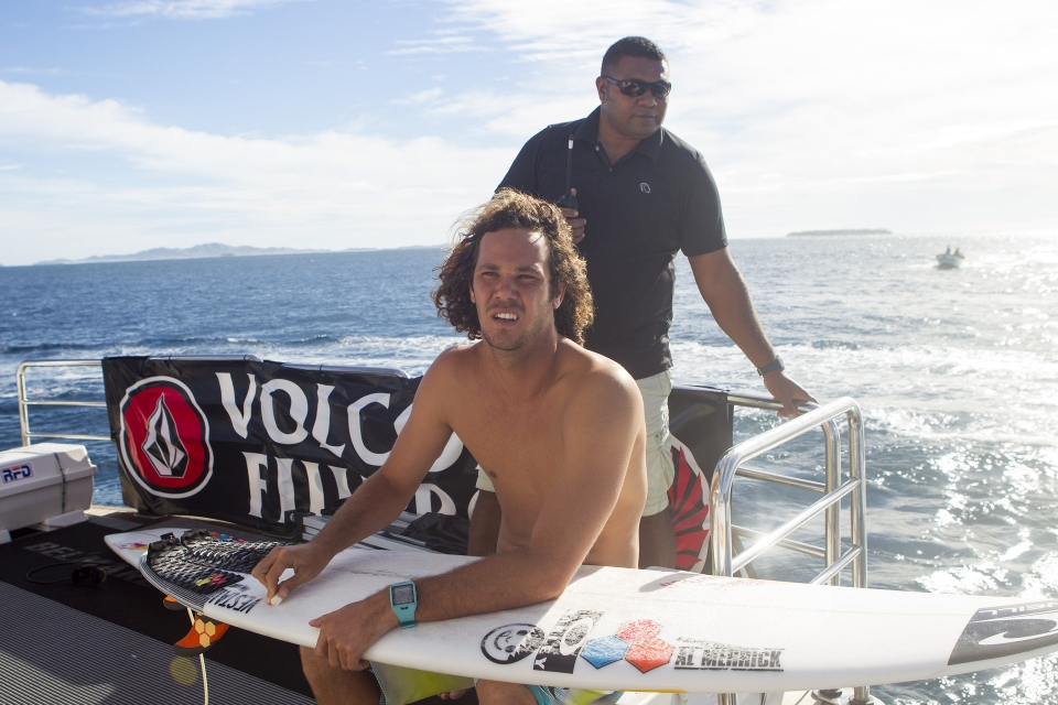 Jordy Smith pre heat loss, was still number one at this point.