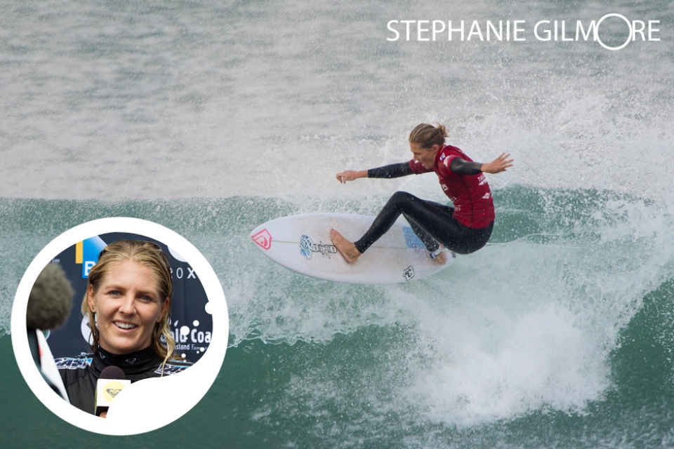 """What can I say about France except  it's always a huge pleasure to come  and surf there. I love the culture, the  history and of course the waves.""     Five-time ASP World Champion and the biggest name in  women's surfing, Stephanie Gilmore  is on course to become the most successful  woman surfer of all time. The golden girl of her generation, her buttery style was honed on the pointbreaks of Australia's Gold Coast, and  has gained her acclaim ever since she  won the Roxy Pro as a wildcard aged  17. Accolades outside her 21 ASP World  Tour wins include winning the prestigious  Laureus Action Sports Person of  the Year 2010 and ESPN ESPY Female  Action Sports Person of the Year 2011.  With interests including film, fashion,  dance, music, the arts and supporting  environmental causes like the Coeur  de Foret project, Gilmore is as impressive  on land as she is in the sea"