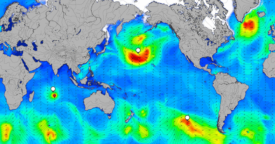 MSW houses an active storm tracker to help you make the call on where's going to be your best best for decent swell. Head  HERE.
