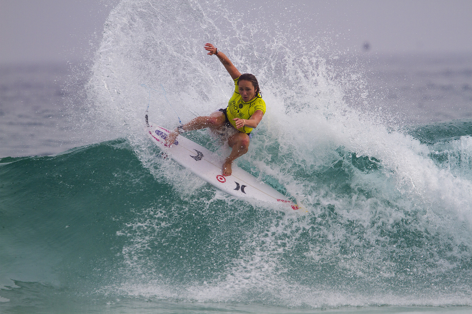 """""""I definitely did not feel safe at all during that Heat,"""" said Carissa Moore, who squeezed through here heat against Paige Hareb and Silvana Lima . """"I was just trying to focus on myself and catch some good waves and luckily it worked out,"""