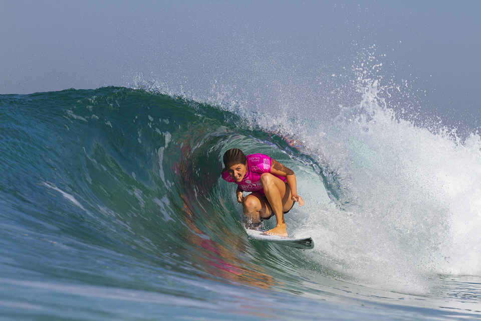 This mini keg wasn't enough to see Steph Gilmore progress past Silvana Lima in round 2. Her world title campaign is looking withered.