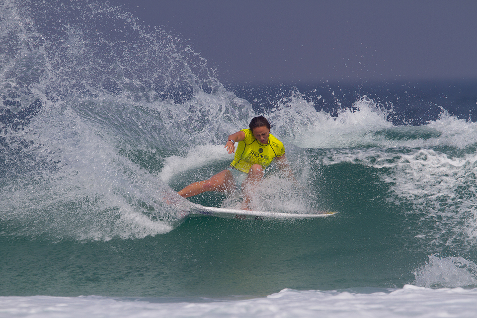 """I'm not really keeping track of points but I was surprised to see Steph (Stephanie Gilmore) go down earlier,"" said Carissa Moore, after winning her round 3 heat. ""Silvana (Lima) is surfing amazing so it's great to see her back on Tour and putting on a show for everyone in front of a home crowd. Silvana has been on the Tour for years and has so much experience. It's great to see her in the event and it's great having wildcards in the event."""