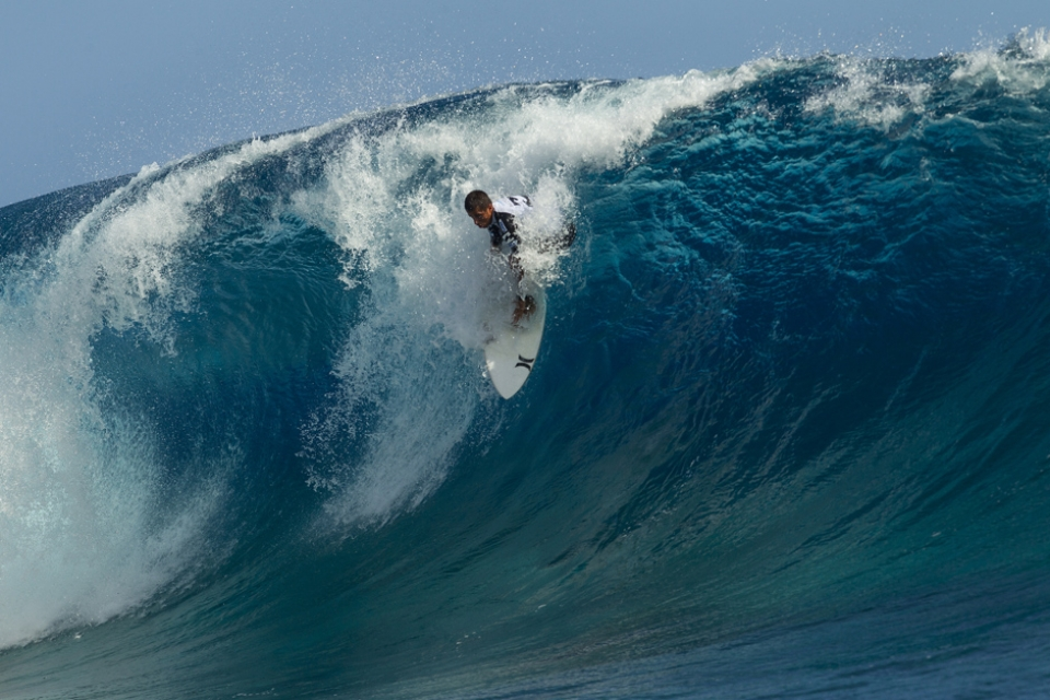 Someone said Toledo would be swatted by Teahupoo. He certainly gave it his all.