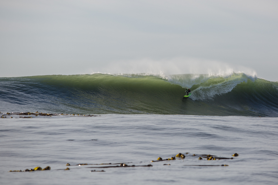 Josh Kerr packing an inside bowl.