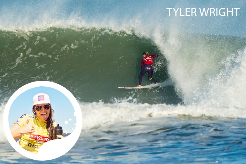 """""""The first Swatch event in 2010 was a real eye-opener for me, I loved the place and the waves and have been excited about going back every time since.""""     Tyler Wright, emerging as a Worldbeater at just 14 years old with her successes at the Beachley Classic in Sydney and having a series of successes ever since, has the power moves and  progressive airs, to be a constant threat  at any venue, in any condition. Known for a tenacious and fearless  approach to competition, Tyler hit the  headlines early in 2013 with a huge free  surf barrel in Micronesia, proving herself as an athlete and making the cover shot of men's surf magazines. Shortly afterwards she smashes the first ASP Title Race event of 2013, winning at the Roxy Pro Gold Coast. With the 2011 ASP  Rookie of the Year award and two 4th  place finishes (2011, 2012) already under  her belt, Wright is now a fully-fledged  World Title contender set to make waves at future competitions."""