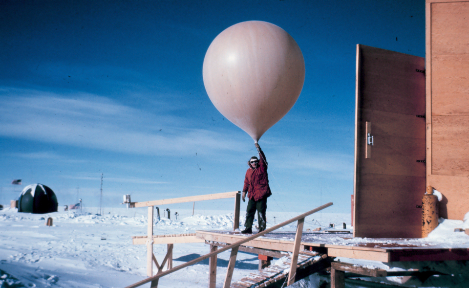 NOAA weather balloon launch. This happens every day and is crucial to your forecast accuracy.