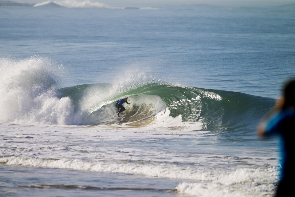 Slater slayer, Jacob Willcox, relished the pristine tubes which were much akin to those of the trials event.