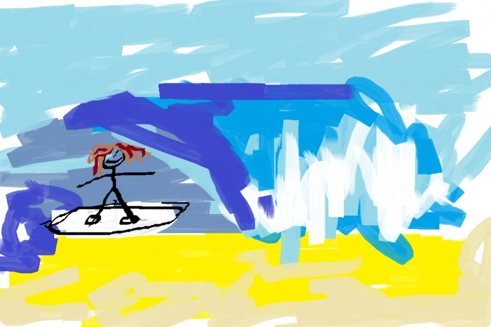 Ross Duerden (aged 26) artist's impression of the Snapper comp. Is this the future of online event reportage?