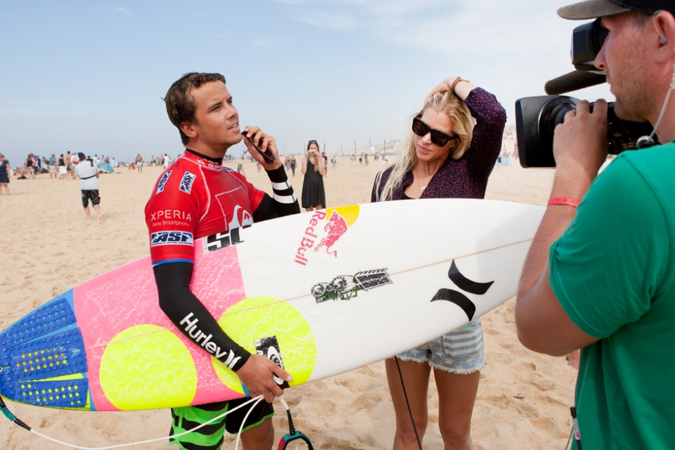 Julian Wilson and his beau who is fast becoming a fixture on Tour.