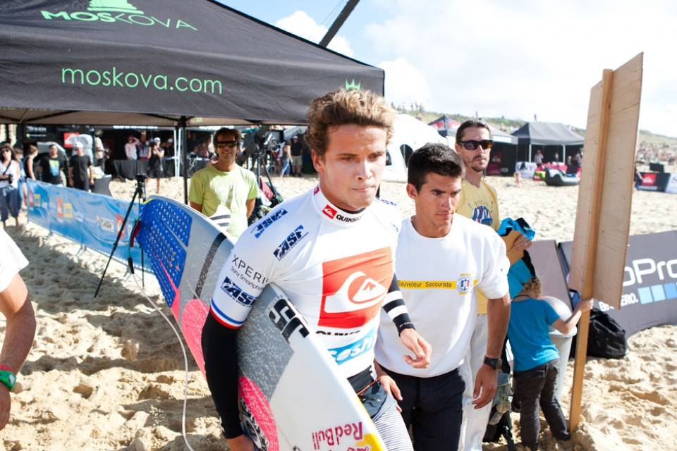 Julian Wilson looking focussed.