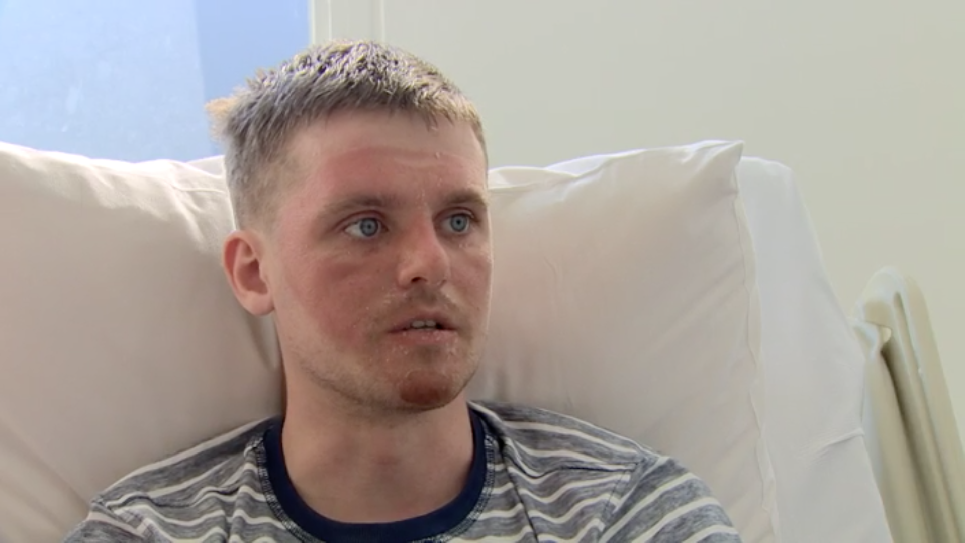 Matt was emotional, fighting back tears, as he spoke with the BBC from his hospital bed in Belfast.