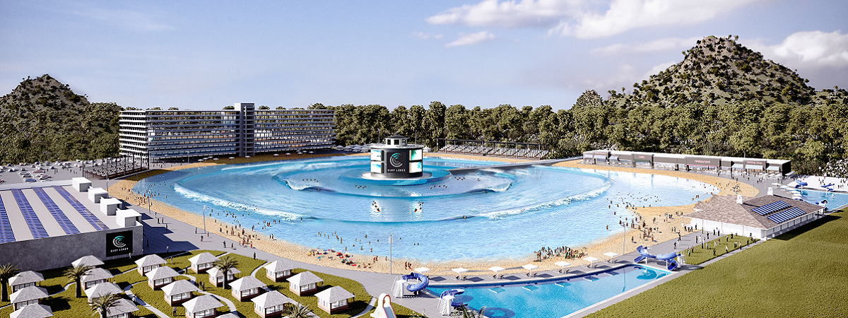 An artist's impression of how the pool could look.